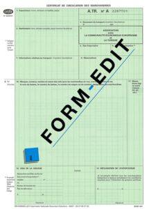Certificat de circulation ATR