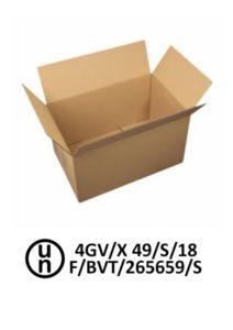 Emballage 4GV agrée pour un poids brut maximum de 49 kg