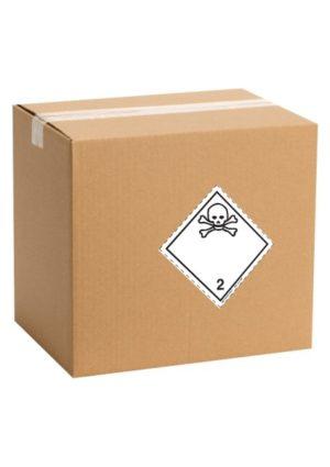 Etiquette de danger pour colis ADR classe 2.3