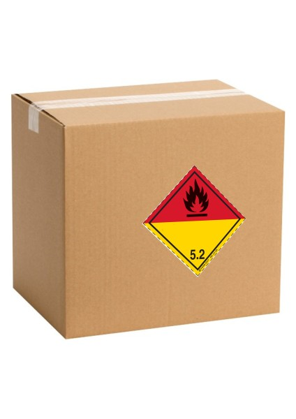 Etiquette de danger pour colis ADR classe 5.2