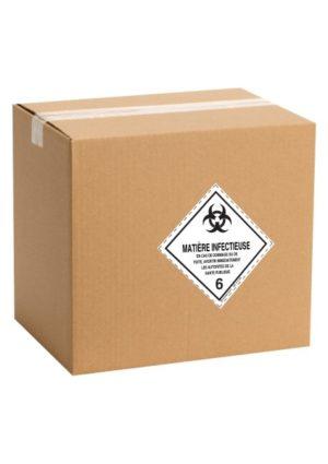 Etiquette de danger pour colis ADR classe 6.2