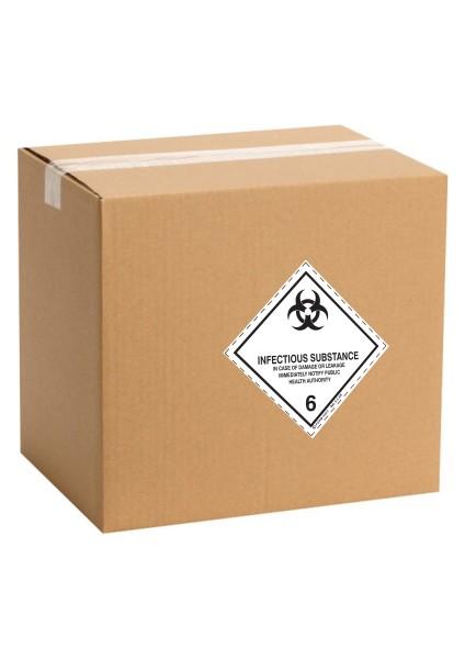 Etiquette de danger pour colis IATA classe 6.2