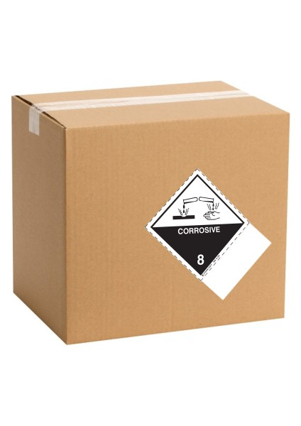 Etiquette de danger pour colis IATA classe 8