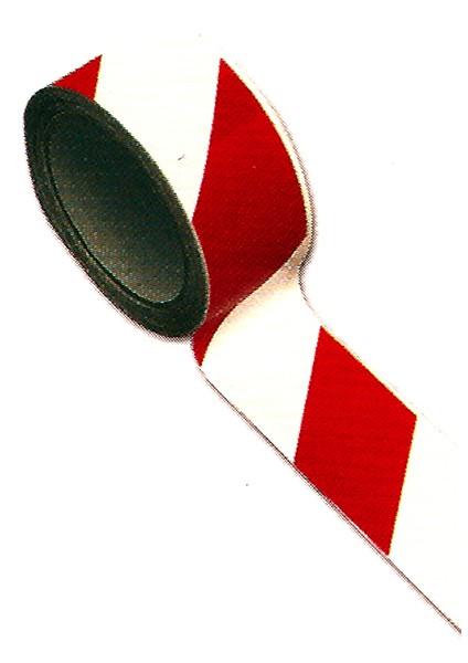 Ruban de signalisation rouge/blanc