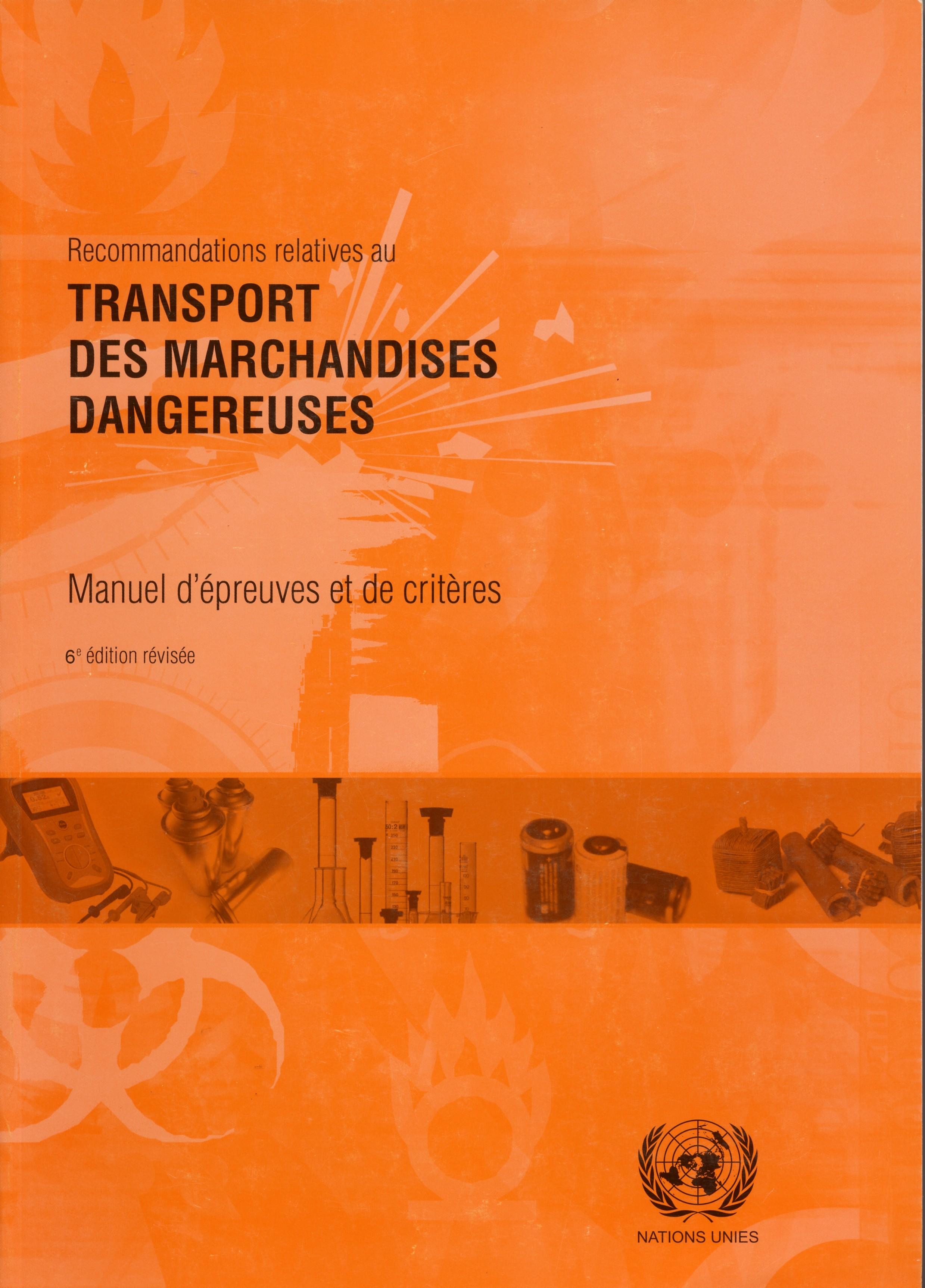 Manuel D Epreuves Et Criteres Onu 6eme Edition Form Edit