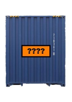 panneau orange pour conteneur marchandises dangereuses