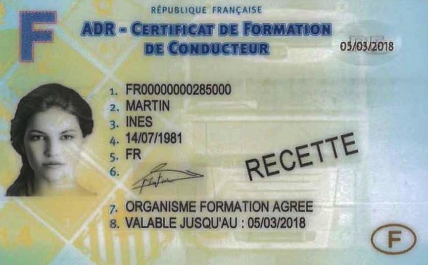Certificat ADR conducteur classe 7