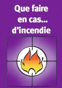 Guide poche que faire en cas d'incendie