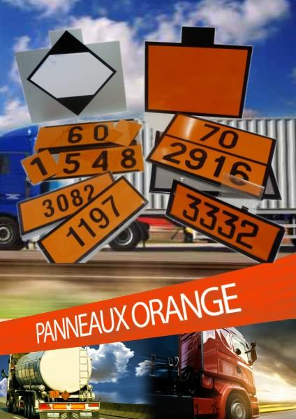 PANNEAUX ORANGE ET CHIFFRES