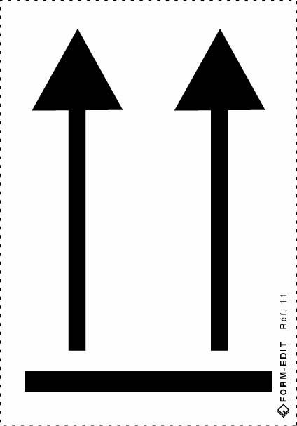 étiquette flèches d'orientation